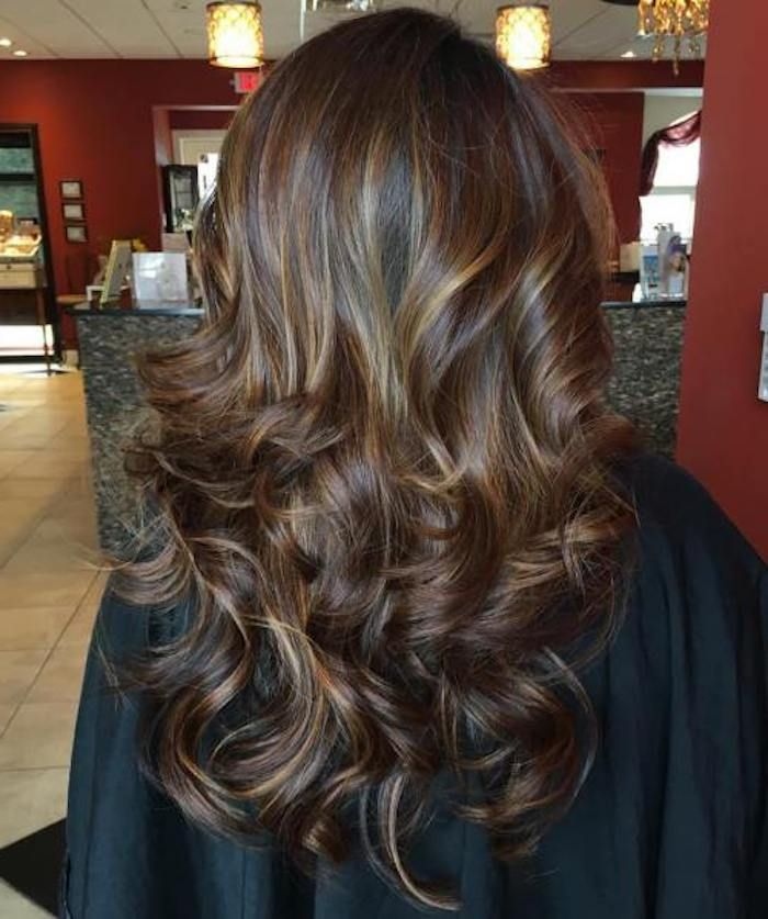 Dunkle Haare Balayage