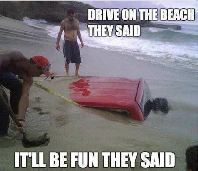 Drive on the beach they said - http://jokideo.com/drive-on-the-beach-they-said/