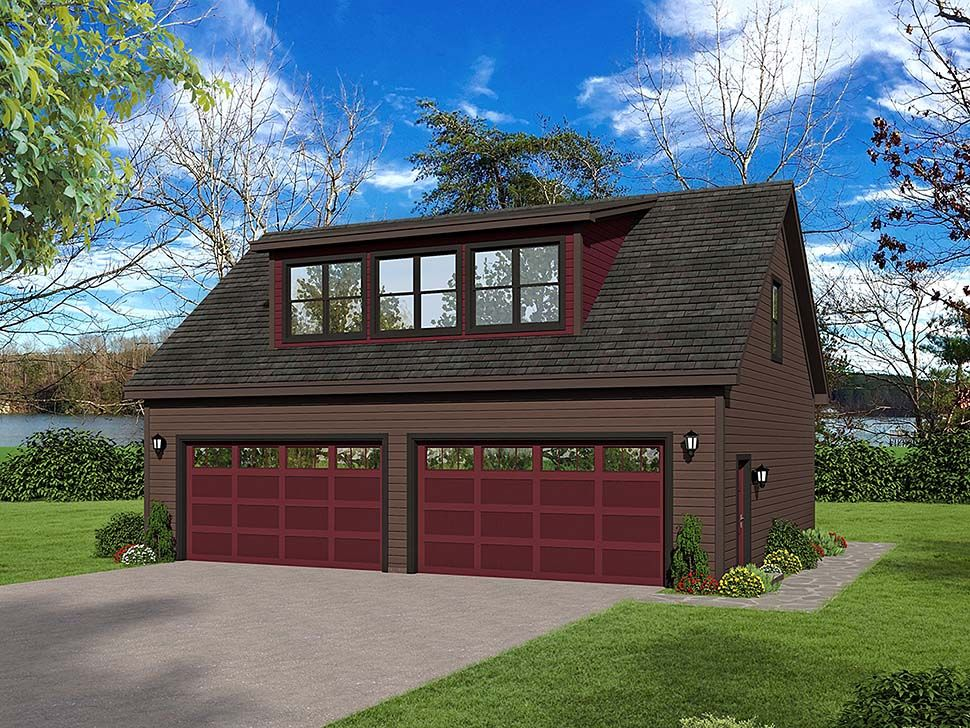 Traditional Style 4 Car Garage Plan Number 51690 Cottage House Plans House Plans Garage Plan