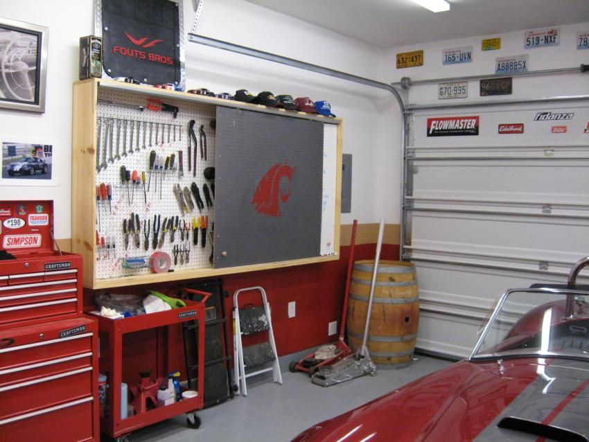 Pegboard Storage For Garages Pegboard Cover Up The