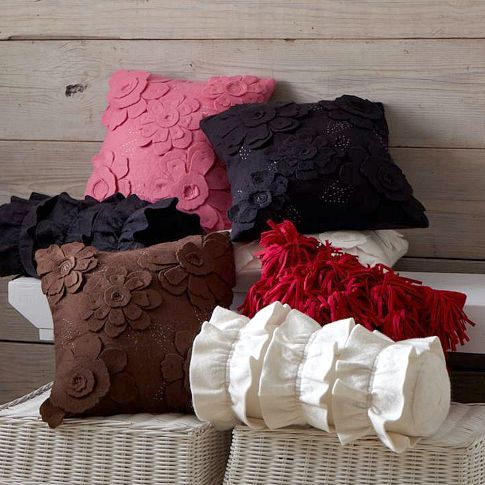 Cute Felted Pillow Covers from Pottery Barn
