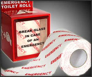 Emergency Toilet Roll The Awesomer Toilet Roll Toilet Emergency