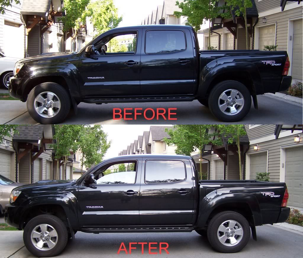 leveling kit before and after tundra - Google Search | Toyota Tacoma