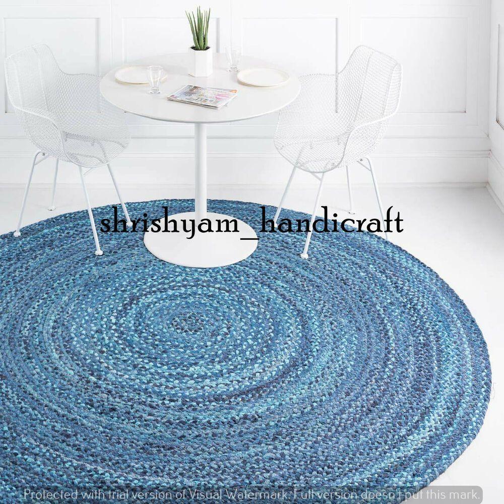 Round Cotton Chindi Rug Boho Traditional Weaver Door Floor Mat Carpet Floor Rugs... ,  #Boho #braidedRugsboho #carpet #Chindi #Cotton #Door #Floor #mat #Rug #Rugs #Traditional #Weaver