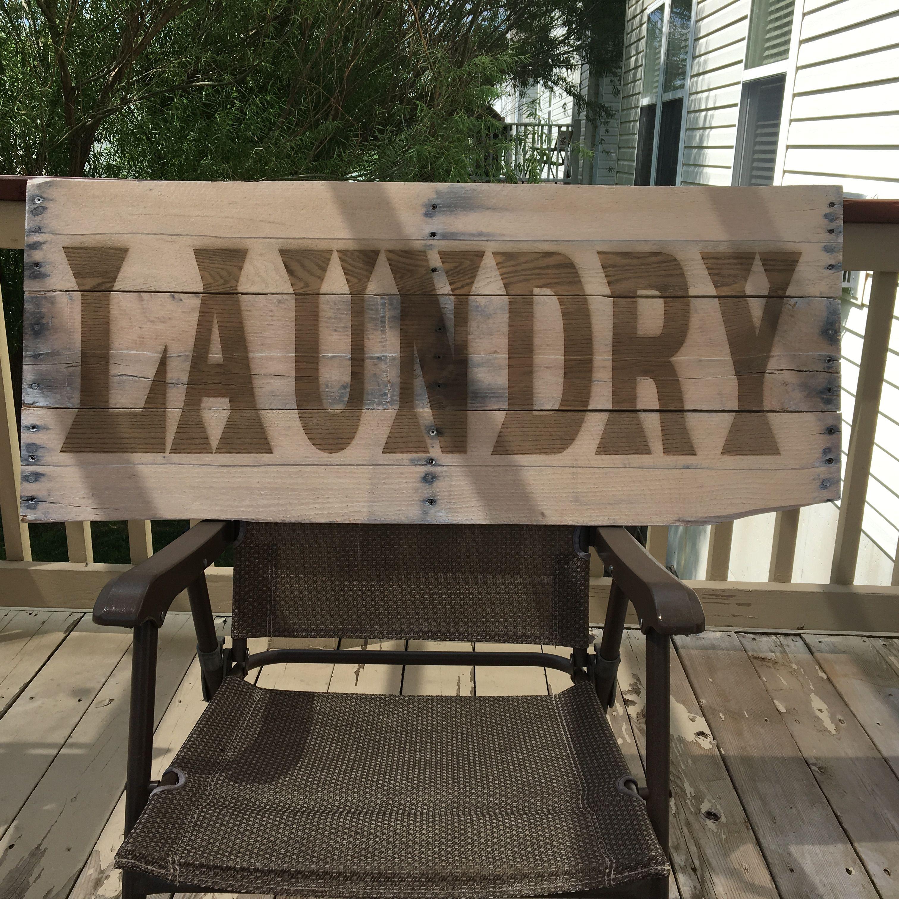 40x16 Laundry sign. Pallet wood @fullspectrumlaser # ...