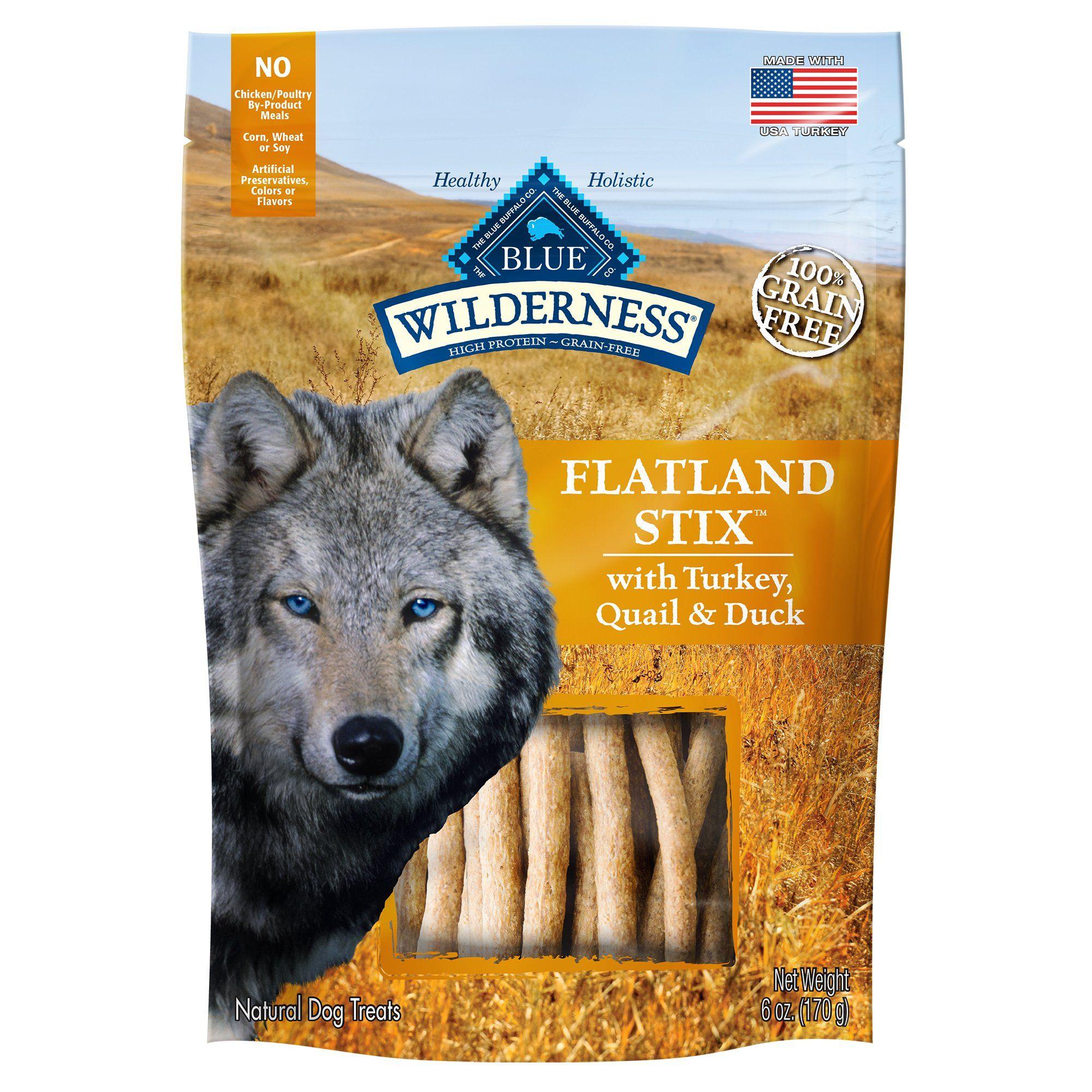 Blue Buffalo Blue Wilderness Flatland Feast Stix Dog Treats 6 Oz