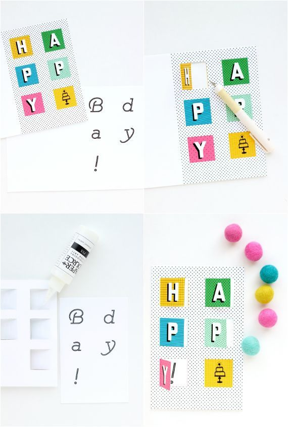 Diy Pop Up Birthday Card With Free Printable Diy Pinterest