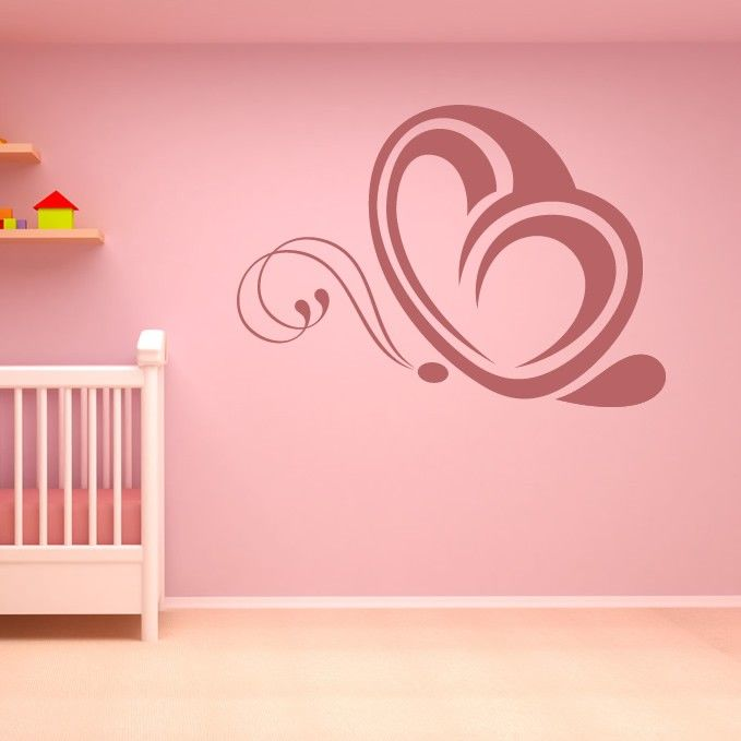 Butterfly Outline In the Garden Wall Art Decals Wall
