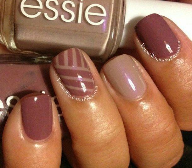 Fall Striping Tape Manicure autumn nail art manicures nail design autumn  nails fall nails, Island Hopping and Demure Vix - Essie, Fall,610 Island Hopping Beauty Is In The Eye Of The