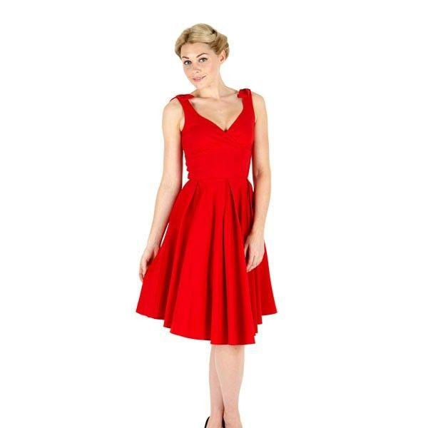 So Couture Rot Ascot Vintage Kleider | PinUp envie | Pinterest