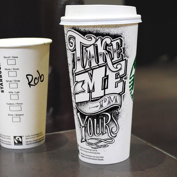 Doodles on Coffee Cups Art Showcase Starbucks cup art