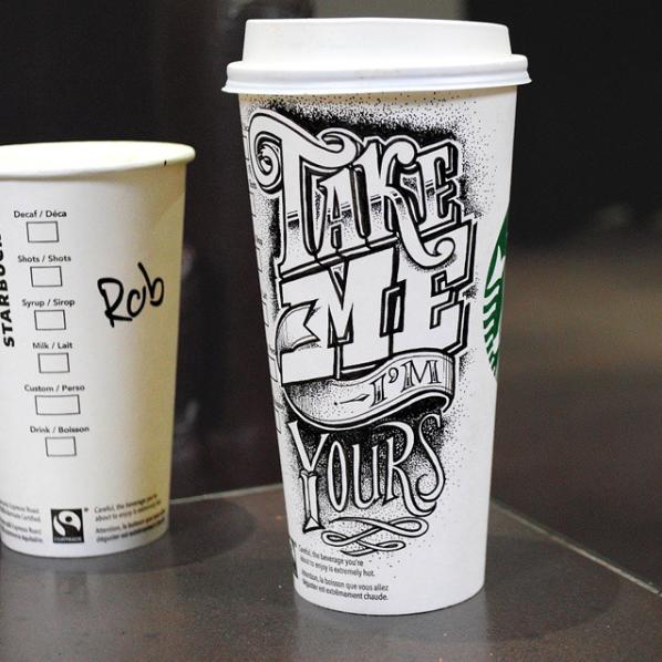 Doodles on Coffee Cups Art Showcase Starbucks cup art
