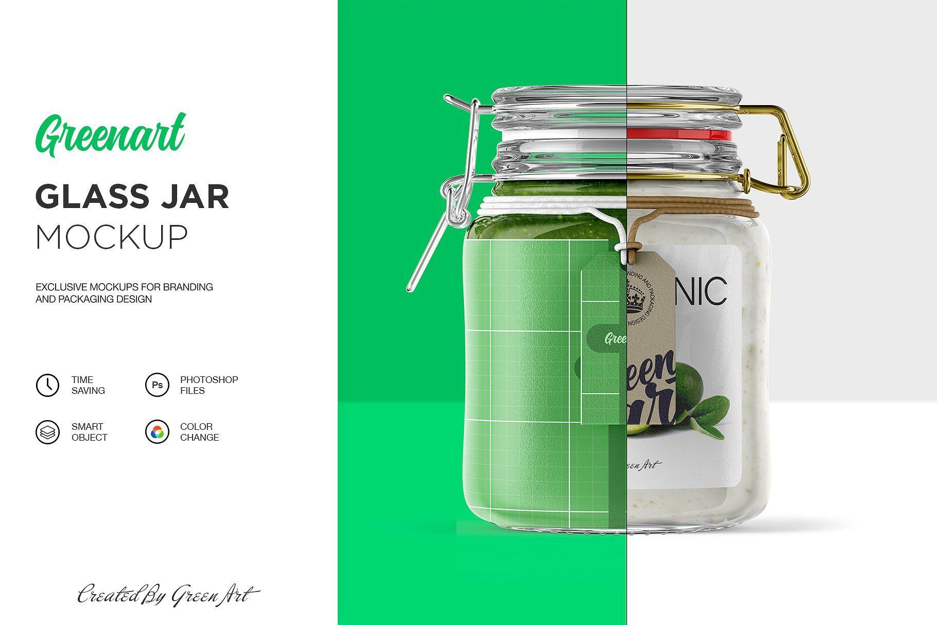 Clear Glass Jar Mockup Clear Glass Jars Glass Jars Glass Dropper Bottles