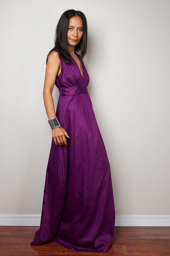 Purple Maxi Dress - Long Formal Purple dress : Oriental Secrets ...