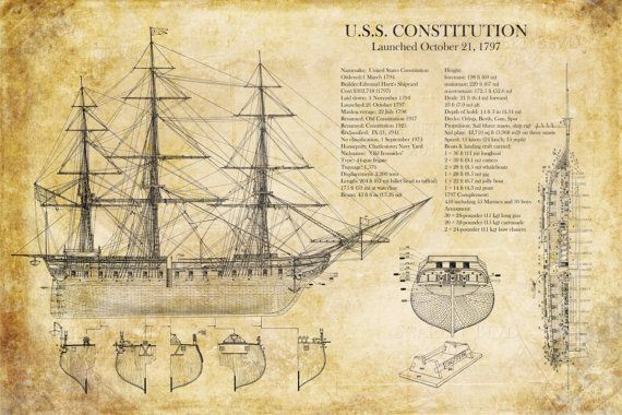 Uss constitution ship blueprint 24 x 36 art print httpsetsy uss constitution ship blueprint 24 x 36 art print https malvernweather Choice Image