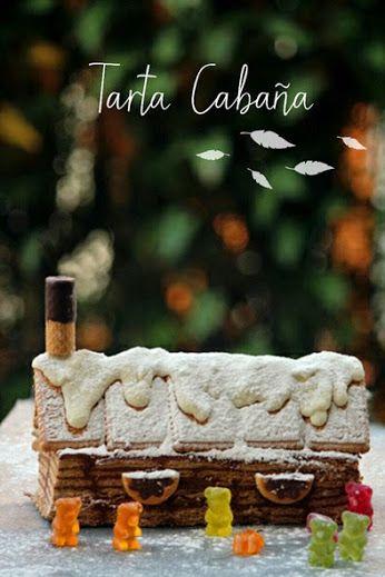 Tarta cabaña de chocolate, por La cocina de Ompalompa #tarta   #recetastarta   #tartacabaña   #tartadechocolate  http://charhadas.com/ideas/37626-tarta-cabana-de-chocolate