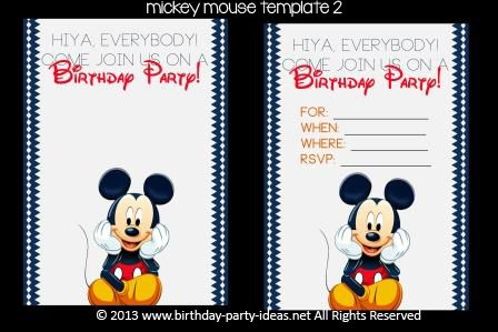 Mickey Mouse Birthday Party Invitation Template Party Ideas - Mickey mouse birthday invitation template