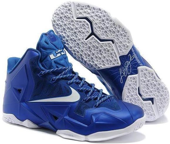 a2ab5f3e61c99 Navy Blue White Lebron 11 Shoes