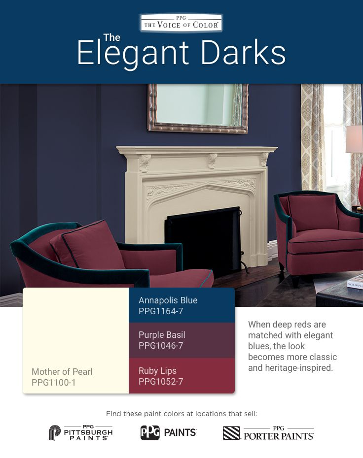 The Elegant Darks Color Palette Features Rich And Saturated Royal Hues Together