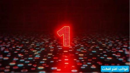 قالب افتر افكت انترو العد التنازلي بطريقة احترافية Neon Signs Neon Countdown