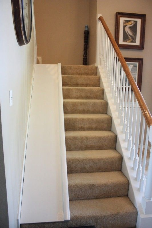 I Need This In My House For Sure Diy Stair Slide With A Super