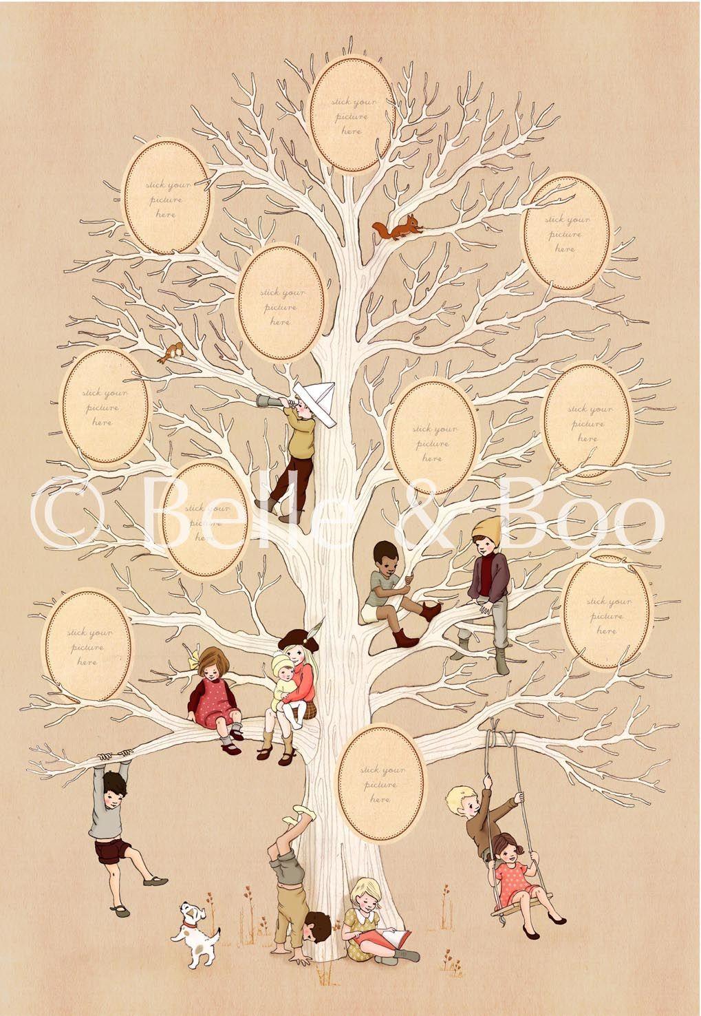 Family Tree Belle Amp Boo Family Tree Print Family Tree