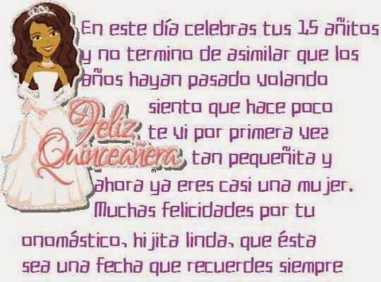 Mensajes para dedicar en postales de cumple para una chica de 15 años feliz cumpleaños