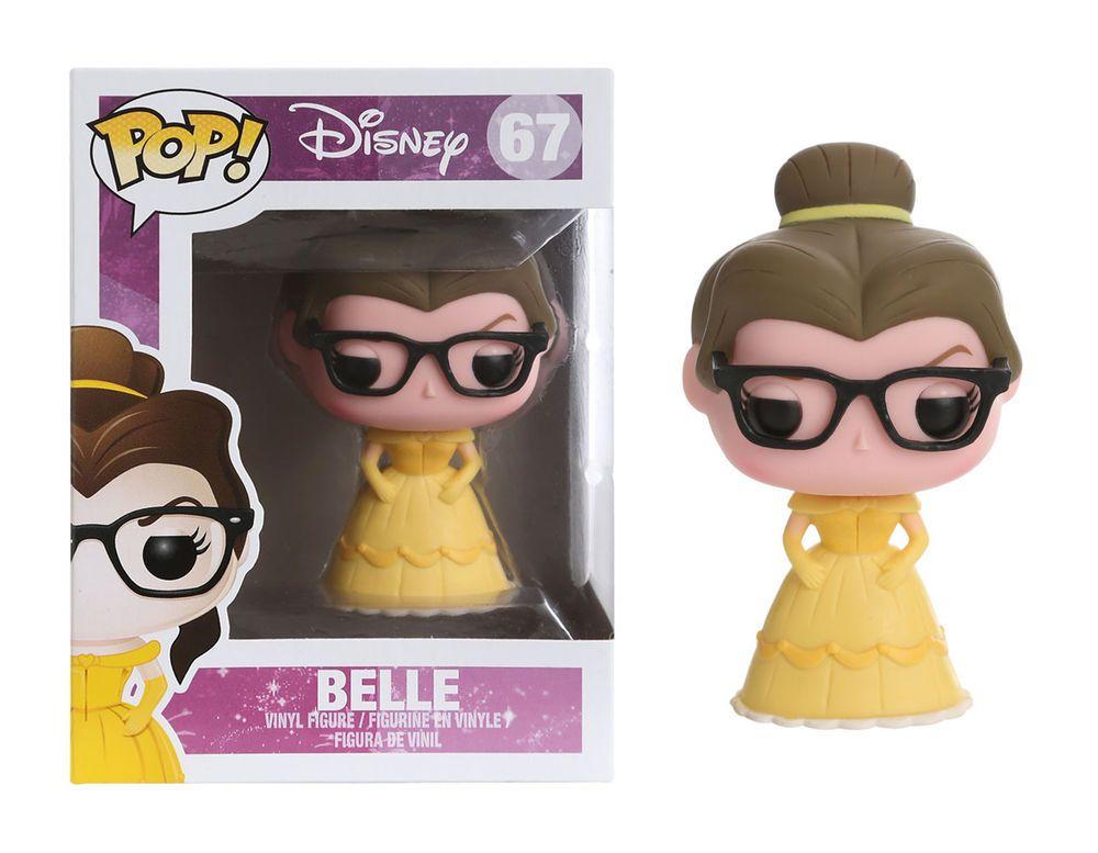La Belle Et La Bete Pop Disney Vinyl Figurine Belle Nerd Hipster 9cm Funko 67 Figurine Vinyl Pop Vinyle Disney