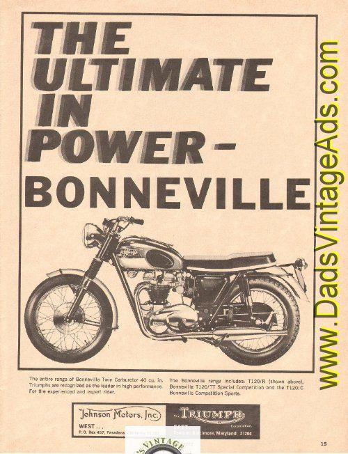 Vintage Triumph Ads Google Search Motocycle Triumph