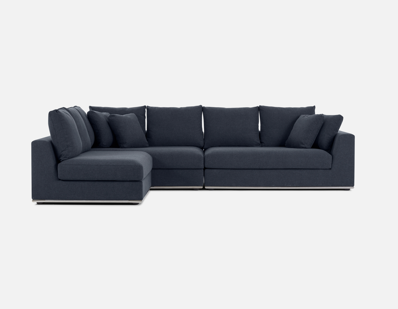 Best Dark Blue Modular Sectional Sofa Structube Horizon 640 x 480