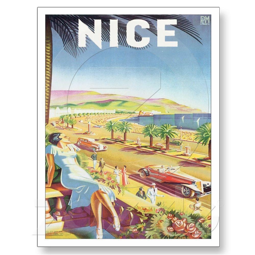 Vintage Nice France Travel Postcard | Zazzle.com | Places ...