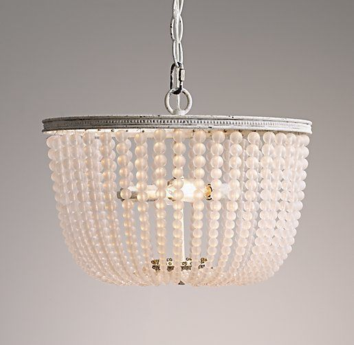 Rh Baby Child S Dauphine Frosted Gl Medium Pendant Adorned With Strands Of Beads Our Rustic White Metal Is Adept At Transforming