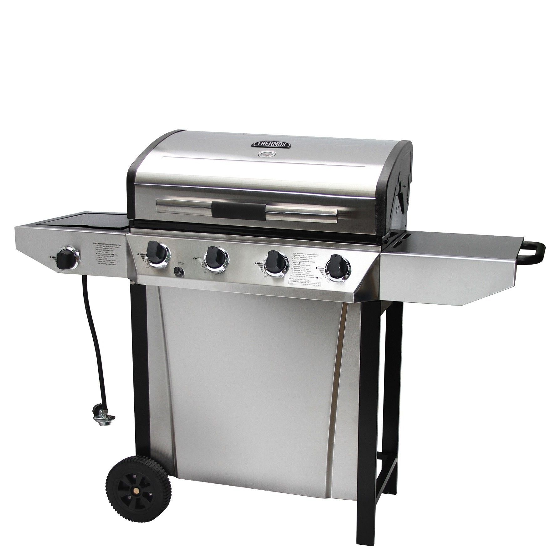 Thermos 4-Burner Propane Gas Grill with Side Shelves | Propane gas ...