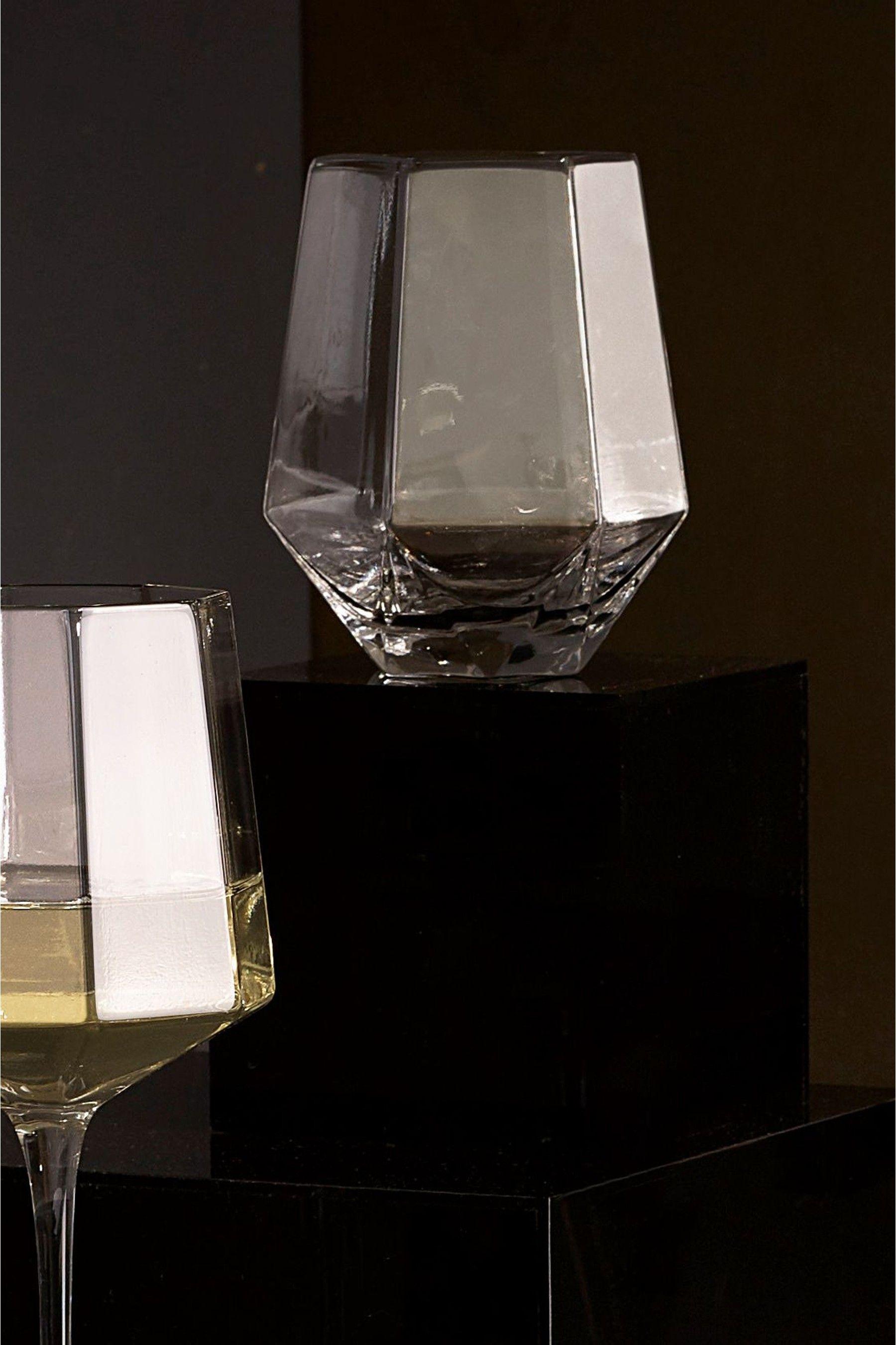 Set of 4 Angular Tumbler Glasses | Tumbler, Kitchenware