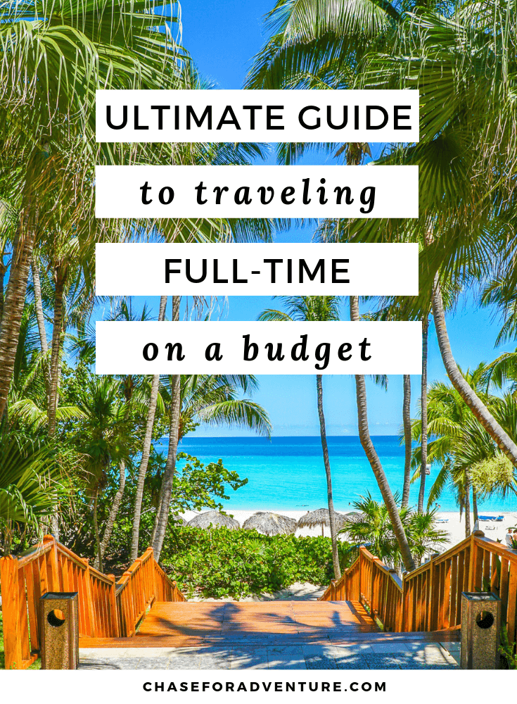 Thinking about becoming a digital nomad? After becoming full-time travelers, we've come up with budget travel hacks that let you travel for over a year, and travel on  budget! This post is filled with budget travel tips, the best travel destinations for digital nomads, and even ways to get paid to travel. Click through to get our travel budget planner, and Money Saving Tips so that you can prepare for your next trip abroad.  #freetravel #digitalnomad #budgettravel #travelguides #fulltimetravel