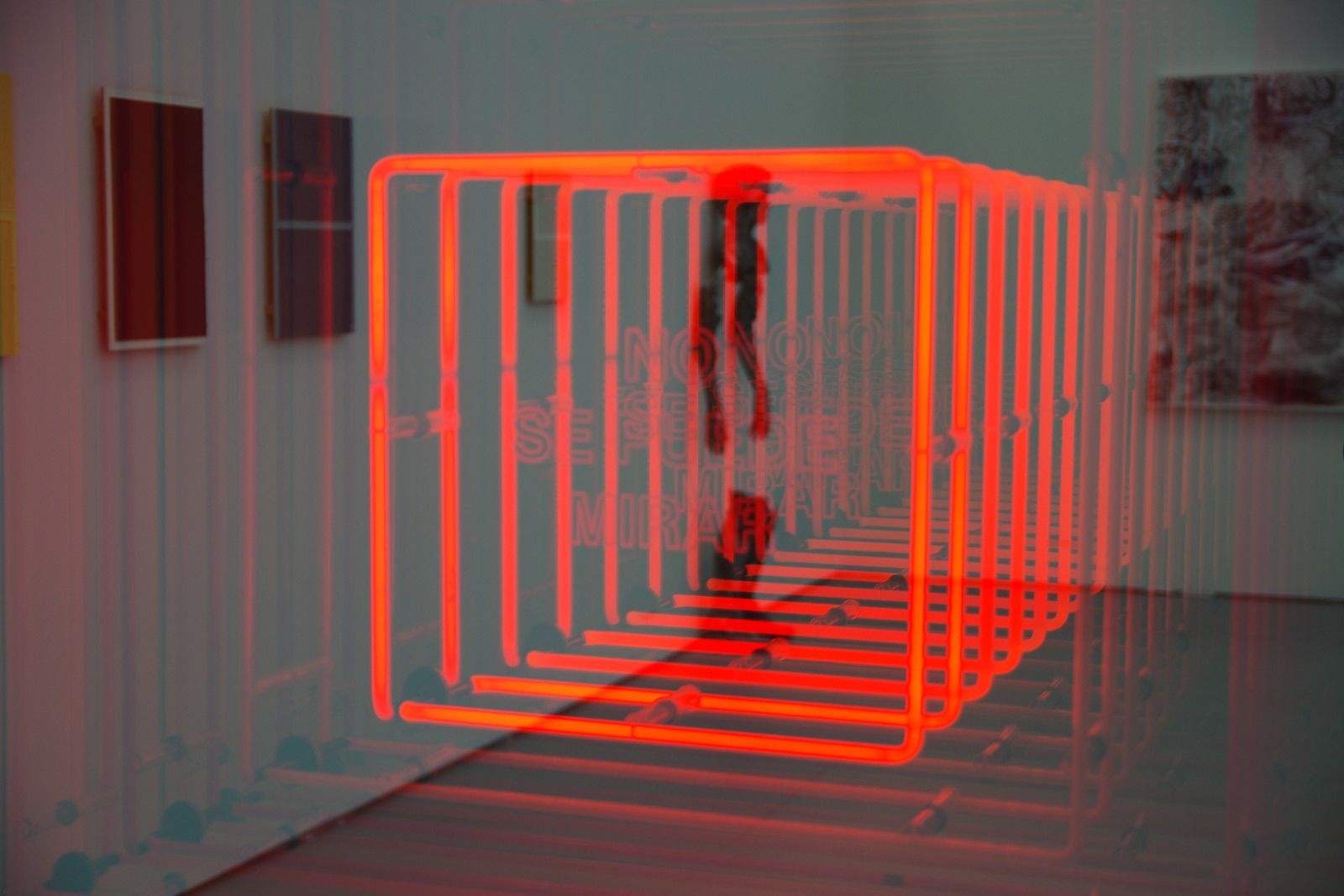 "Ivan Navarro's ""No Se Puede Mirar"" (2013) offers a small gas-lit window into the infinite."