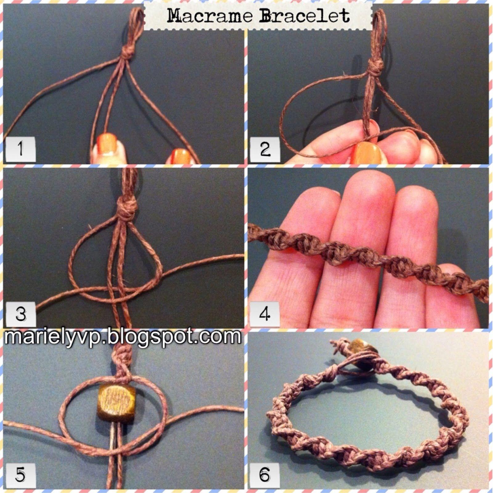 How to Make a Macrame Bracelet using square knots to make a spiral bracelet 62c5bf22b0b