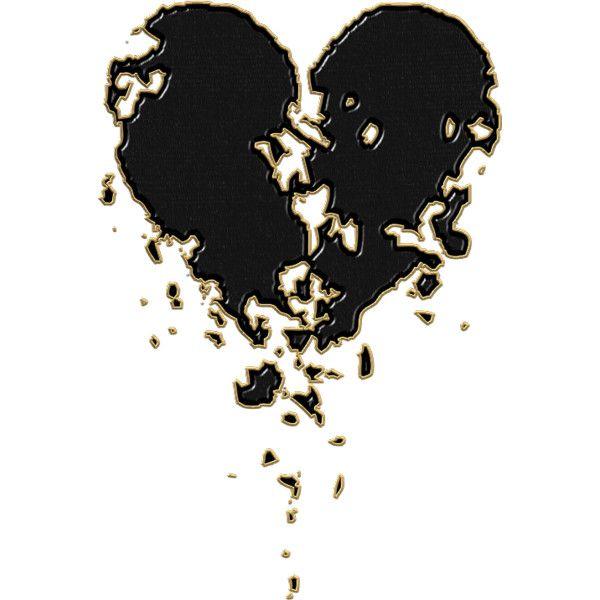 Coeur bris liked on polyvore pens es citations images pinterest c urs qui saignent coeur - Tatouage amour perdu ...