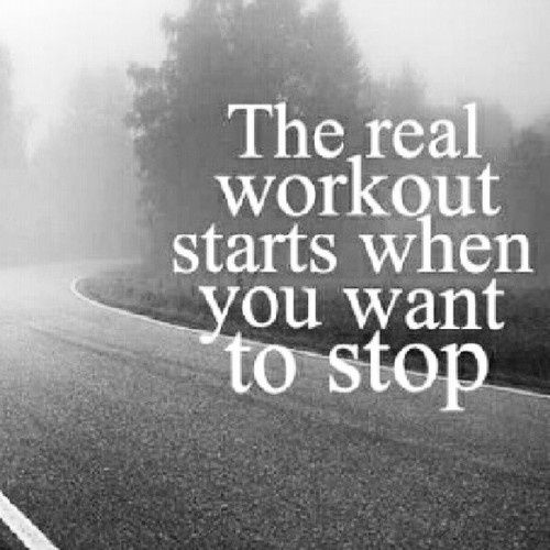 """""""The real workout starts when you want to stop."""" #running #motivation happened the other day..."""