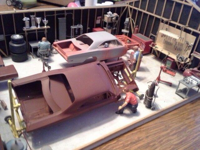 Garage Scene Lowrider Model Cars Plastic Model Cars Car Model