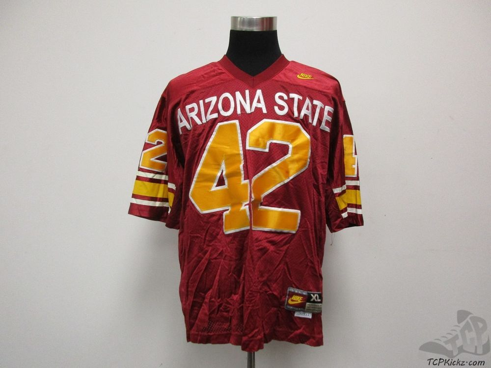 Vtg Nike Arizona State Sun Devils Pat Tillman #42 SEWN Football Jersey sz XL  #Nike #ArizonaStateSunDevils #tcpkickz