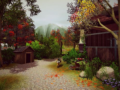 fantastic landscaping for the sims 3 by minasavenue