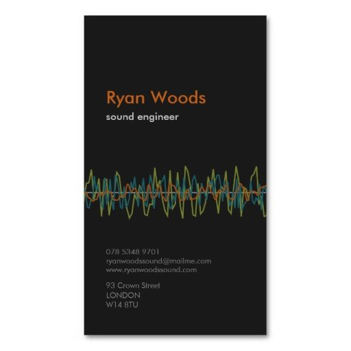 Professional sound engineer business card business cards professional sound engineer business card reheart Images