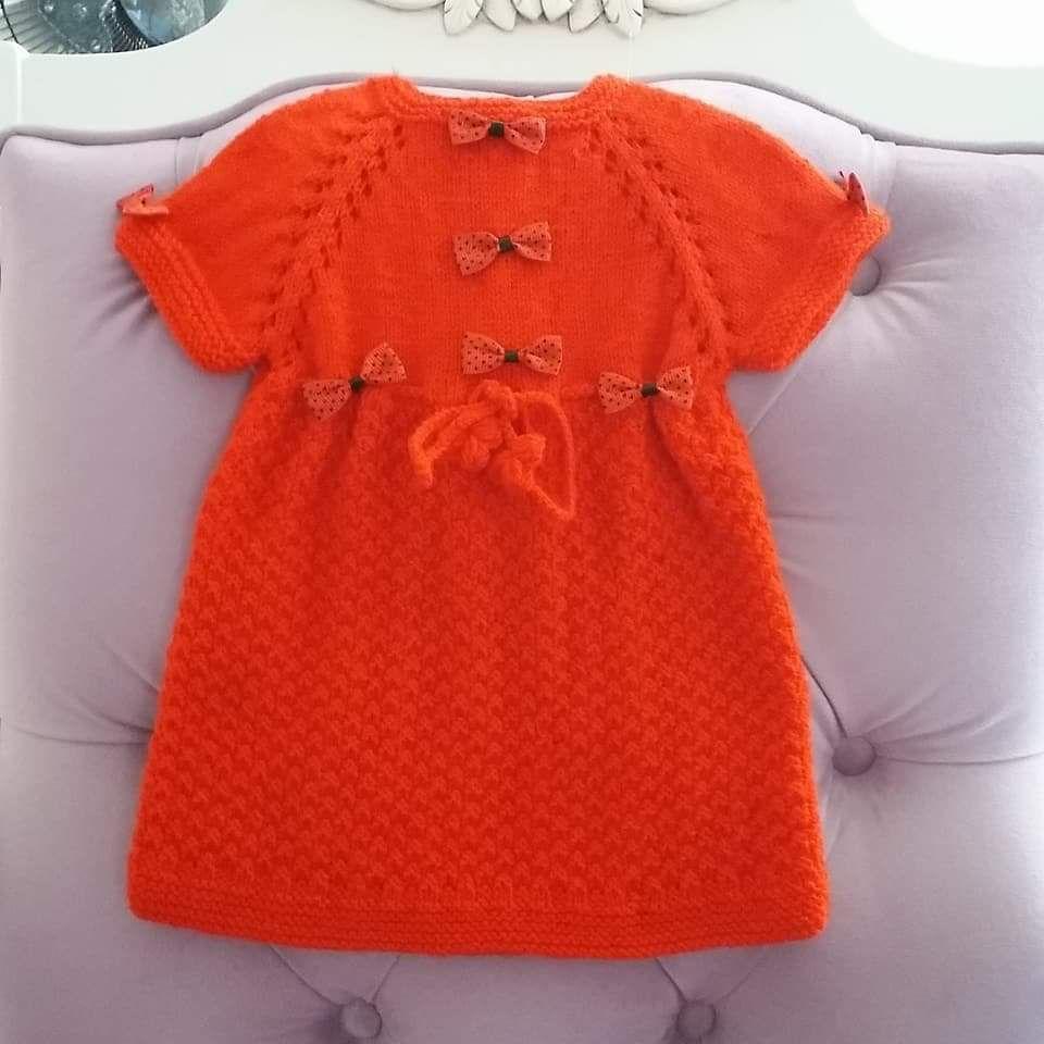 Yakadan Başlama Küçük Deniz Dalgası Örneğinde Kurdele Süslemeli Çocuk Elbisesi Yapımı. 1 yaş 56