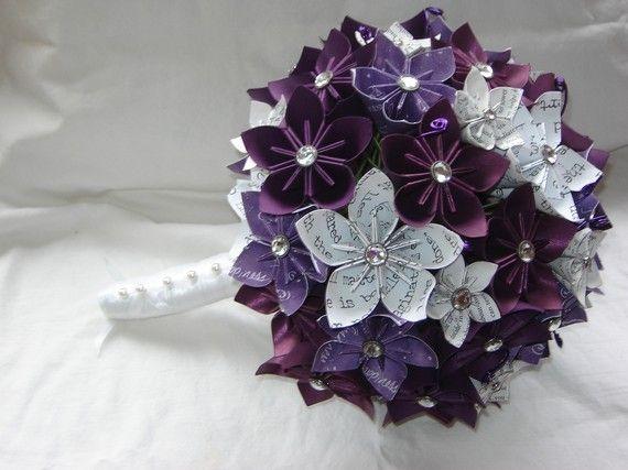 Paper Kusudama Origami Flower Wedding Bouquet