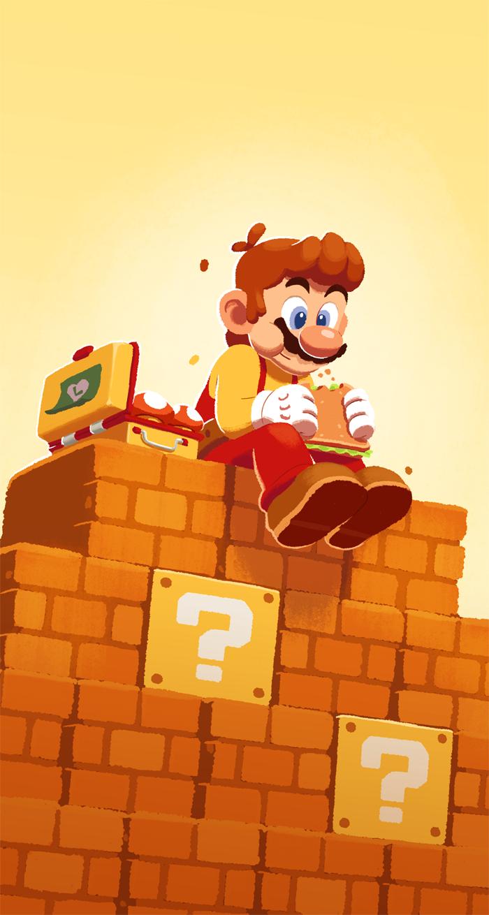 Maker Mario Taking A Lunch Break by coryosterberg on