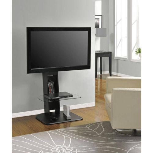 altra furniture galaxy tv stand with mount for tv up to 50 inch black finish