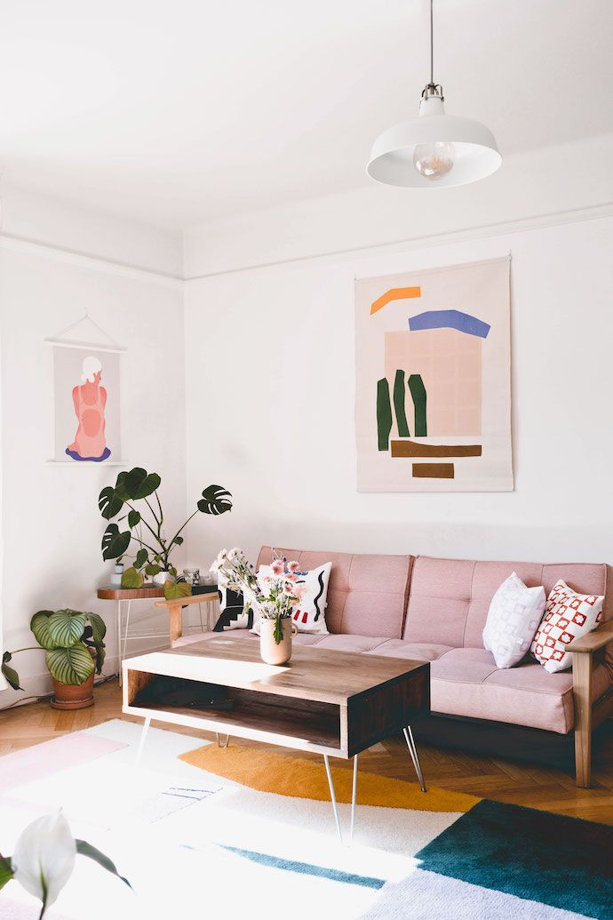 A Sweet Stockholm Apartment Filled With Modern Art Art Deco Living Room Modern Apartment Decor Living Room Modern