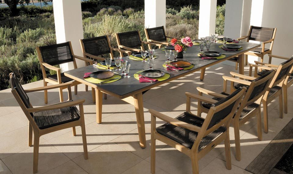 teak table and chairs garden old world dining furniture manufacturers of high quality outdoor in stainless steel aluminium sling weave