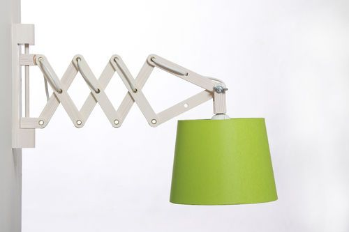 Wandlampe Badezimmer ~ Wandlampe scherengitter kiefer weiß ausziehbar auf 58 cm